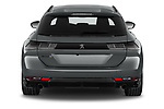 Straight rear view of 2021 Peugeot 508-SW PSE-PHEV 5 Door Wagon Rear View  stock images