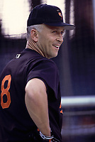 Cal Ripken, jr of the Baltimore Orioles during a 2000 season MLB game at Angel Stadium in Anaheim, California. (Larry Goren/Four Seam Images)