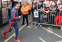 Leon Britton of Swansea City arrives before the Barclays Premier League match between AFC Bournemouth and Swansea City played at The Vitality Stadium, Bournemouth on March 12th 2016