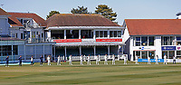 Kent players and officials stand in silence to show their respect to Prince Philip during Kent CCC vs Yorkshire CCC, LV Insurance County Championship Group 3 Cricket at The Spitfire Ground on 17th April 2021