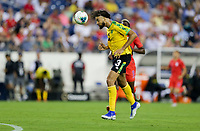 NASHVILLE, TENN - JULY 03: Michael Hector #3 during a 2019 CONCACAF Gold Cup Semifinal match between the United States and Jamaica at Nissan Stadium on July 03, 2019 in Nashville, Tennessee.
