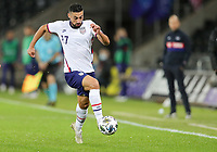 SWANSEA, WALES - NOVEMBER 12: Sebastian Lletget #17 of the United States  moves along the sideline during a game between Wales and USMNT at Liberty Stadium on November 12, 2020 in Swansea, Wales.