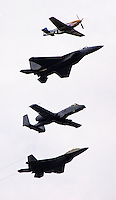 USAF heritage flight at Elmendorf Air Force Base, Alaska.