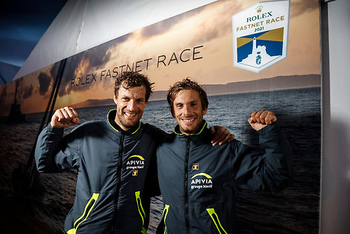Rolex Fastnet Race victory in the IMOCA class for the hugely talented Charlie Dalin and Paul Meilhat on Apivia