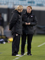 Dawn Scott, Jill Ellis.  The USWNT defeated Scotland, 4-1, during a friendly at EverBank Field in Jacksonville, Florida.