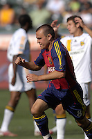 Chris Brown celebrates his goal. The Los Angeles Galaxy defeated Real Salt Lake, 3-2, at the Home Depot Center in Carson, CA on Sunday, June 17, 2007.