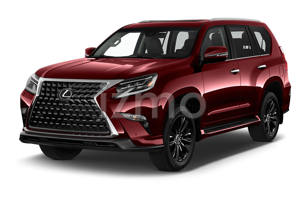 2020 Lexus GX - 5 Door SUV Angular Front automotive stock photos of front three quarter view