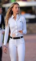 WELLINGTION, FL - FEBRUARY 10: SATURDAY NIGHT LIGHTS – 384,000 FIDELITY INVESTMENTS® GRAND PRIX CSI 5*. The Winter Equestrian Festival (WEF) is the largest, longest running hunter/jumper equestrian event in the world held at the Palm Beach International Equestrian Center. Eve Jobs, an accomplished equestrian and Stanford student who trains on a 15 million ranch. Eve Jobs is the youngest child of late Apple founder Steve Jobs on February 10, 2018  in Wellington, Florida.<br /> <br /> People:  Eve Jobs