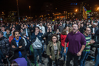 Independence protestors surround the main railway station in Barcelona closing it down to demonstrate over police violence and the jailing of local politicians. 28-10-19