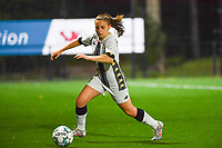 defender Chrystal Lermusiaux of Sporting Charleroi pictured during a female soccer game between Sporting Charleroi and Club Brugge YLA on the fourth matchday of the 2020 - 2021 season of Belgian Scooore Womens Super League , friday 9 nd of October 2020  in Marcinelle , Belgium . PHOTO SPORTPIX.BE | SPP | DAVID CATRY