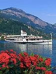 Switzerland, Canton Lucerne, Weggis: paddle steamer URI