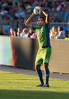 August 10, 2013: Seattle Sounders FC defender Leonardo Gonzalez #12 in action during an MLS regular season game between the Seattle Sounders and Toronto FC at BMO Field in Toronto, Ontario Canada.<br /> Seattle Sounders FC won 2-1.