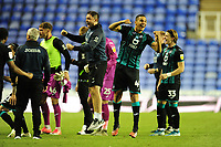 Ben Cabango of Swansea City celebrates at full time during the Sky Bet Championship match between Reading and Swansea City at the Madejski Stadium in Reading, England, UK. Wednesday 22 July 2020.