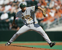 Baylor RHP Shawn Tolleson delivers a pitch against Texas on May 3rd, 2008. Photo by Andrew Woolley / Four Seam Images