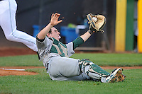 Beloit Snappers Jordan Devencenzi (41) catches ppoup during the Midwest League game against the Clinton LumberKings at Ashford University Field on June 11, 2016 in Clinton, Iowa.  The LumberKings won 7-6.  (Dennis Hubbard/Four Seam Images)