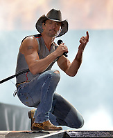 FORT LAUDERDALE, FL - APRIL 16: Tim McGraw performs onstage during Tortuga Music Festival on April 16, 2016 in Fort Lauderdale, Florida.<br /> <br /> People:  Tim McGraw<br /> <br /> Transmission Ref:  FLXX<br /> <br /> Must call if interested<br /> Michael Storms<br /> Storms Media Group Inc.<br /> 305-632-3400 - Cell<br /> 305-513-5783 - Fax<br /> MikeStorm@aol.com<br /> www.StormsMediaGroup.com
