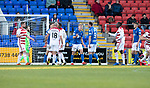 St Johnstone v Hamilton Accies…26.10.19   McDiarmid Park   SPFL<br />Ali McCann reacts as a penalty is given for hand ball<br />Picture by Graeme Hart.<br />Copyright Perthshire Picture Agency<br />Tel: 01738 623350  Mobile: 07990 594431