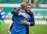 St Johnstone v Dundee United....17.05.14   William Hill Scottish Cup Final<br /> Tommy Wright hugs David Wotherspoon at full time<br /> Picture by Graeme Hart.<br /> Copyright Perthshire Picture Agency<br /> Tel: 01738 623350  Mobile: 07990 594431