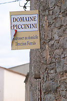 Domaine Piccinini in La Liviniere Minervois. Languedoc. France. Europe.