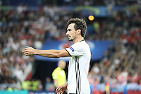 Mats Hummels (D) gibt Anweisungen - EM 2016: Deutschland vs. Polen, Gruppe C, 2. Spieltag, Stade de France, Saint Denis, Paris