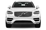 Car photography straight front view of a 2018 Volvo XC90 Inscription 5 Door SUV