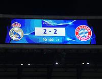 01.05.2018, Football UEFA Champions League 2017/2018, semi final  Rueckspiel, Real Madrid - FC Bayern Muenchen, Bernabeu-stadium Madrid. Endstand 2:2 *** Local Caption *** © pixathlon<br /> <br /> Contact: +49-40-22 63 02 60 , info@pixathlon.de
