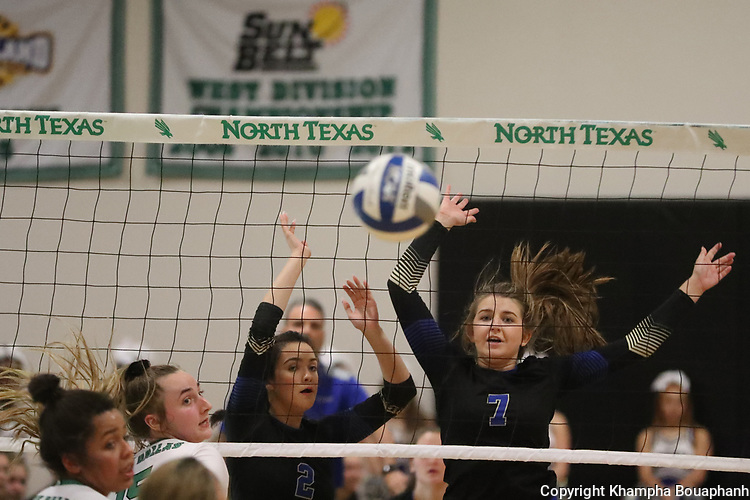 Boswell beats Lake Dallas 25-9, 25-16, 25-19 in 5A Bi-District playoff at UNT on Tuesday, November 5, 2019.(Photo by Khampha Bouaphanh)