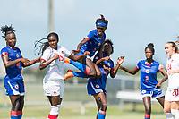 Bradenton, FL - Sunday, June 12, 2018: Estericove Joseph prior to a U-17 Women's Championship 3rd place match between Canada and Haiti at IMG Academy. Canada defeated Haiti 2-1.