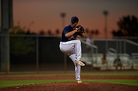 AZL Indians relief pitcher Andrew Misiaszek (40) during an Arizona League game against the AZL Padres 1 on June 23, 2019 at the Cleveland Indians Training Complex in Goodyear, Arizona. AZL Indians Red defeated the AZL Padres 1 3-2. (Zachary Lucy/Four Seam Images)