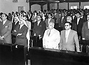 Jordan 1958 <br /> In the parliament of Amman,during the Arab Federation of Iraq and Jordan , 3rd row,in the middle, Zayd Ahmad Othman  <br /> Jordan 1958<br /> Au parlement d'Amman, pendant l'Union Arabe ( Federation arabe d'Irak et de Jordanie ), 3eme rang, au milieu,Zayd Ahmad Othman