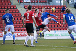 St Johnstone v Clyde…17.04.21   McDiarmid Park   Scottish Cup<br />Jamie McCart and Martin McNiff<br />Picture by Graeme Hart.<br />Copyright Perthshire Picture Agency<br />Tel: 01738 623350  Mobile: 07990 594431