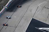 #9: Scott Dixon, Chip Ganassi Racing Honda, #15: Graham Rahal, Rahal Letterman Lanigan Racing Honda