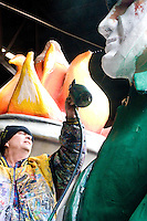 Massett and Company has been designing and building Mardi Gras floats for over 25 years.  After the damage inflicted to their den in the 9th Ward after Hurricane Katrina, they are attempting to repair all of their floats in time for the 2006 Mardi Gras season...