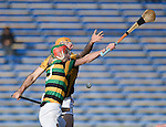Gary Brennan of Ballyea in action against Steven Mc Donnell of Glen Rovers during their Munster Club hurling final at Thurles. Photograph by John Kelly.