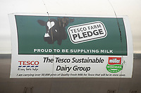 20-10-2021 Muller Wiseman Tesco Farm pledge sign on the side of a milk tanker <br />  ©Tim Scrivener Photographer 07850 303986<br />      ....Covering Agriculture In The UK....