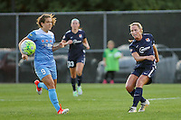 Piscataway, NJ - Saturday Aug. 27, 2016: Christie Rampone, Stephanie McCaffrey during a regular season National Women's Soccer League (NWSL) match between Sky Blue FC and the Chicago Red Stars at Yurcak Field.