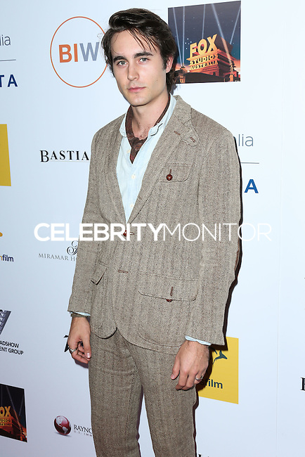 SANTA MONICA, CA, USA - OCTOBER 26: Oliver Edwin arrives at the 3rd Annual Australians in Film Awards Benefit Gala held at the Starlight Ballroom at Fairmont Miramar Hotel & Bungalows on October 26, 2014 in Santa Monica, California, United States. (Photo by Xavier Collin/Celebrity Monitor)