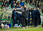 Hibs v St Johnstone....27.11.10  .Derek McInnes appeals to the asst ref.Picture by Graeme Hart..Copyright Perthshire Picture Agency.Tel: 01738 623350  Mobile: 07990 594431