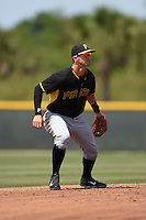Pittsburgh Pirates Tyler Filliben (66) during a minor league spring training game against the Toronto Blue Jays on March 21, 2015 at Pirate City in Bradenton, Florida.  (Mike Janes/Four Seam Images)