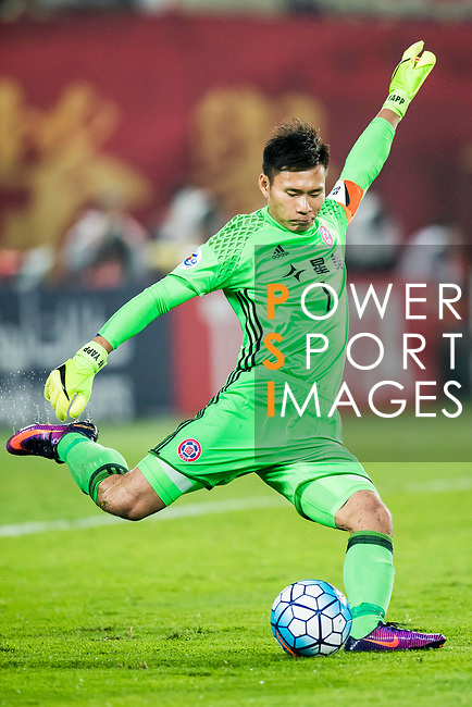 Goalkeeper Yapp Hung Fai of Eastern SC in action during their AFC Champions League 2017 Match Day 1 Group G match between Guangzhou Evergrande FC (CHN) and Eastern SC (HKG) at the Tianhe Stadium on 22 February 2017 in Guangzhou, China. Photo by Victor Fraile / Power Sport Images