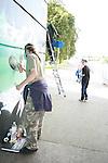 Graffiti Jan under Bridge of Peace Day 1 15/08/09