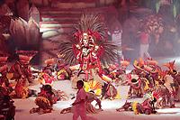 PARINTINS, AM, 28.06.2019: PARINTINS-AMAZONAS. Pajé, Adriano Paketá.  Apresentação do Boi Garantido na primeira noite do 54o festival Folclorico de Parintins 2019, nesta sexta (28), no bumdódromo. Parintins fica a 370 km de Manaus.<br /> Foto: Sandro Pereira/Codigo19