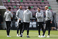 5th September 2020; PTS Academy Stadium, Northampton, East Midlands, England; English Football League Cup, Carabao Cup, Northampton Town versus Cardiff City; Cardiff City players inspect the pitch before kick off