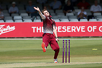 AJ Hancock in bowling action for Cambridgeshire during Essex Eagles vs Cambridgeshire CCC, Domestic One-Day Cricket Match at The Cloudfm County Ground on 20th July 2021