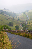 UK, England, Yorkshire Dales.  Valley in the Autumn Mist.