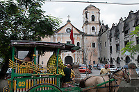 Philippines, Manila, 5 march, 2008..Remnants of san augustin church and convent in Intramuros the oldest district of the city of Manila...Resten van de san augustin church and convent in Intramuros, het oudste district van Manila, de hoofdstad van de Filippijnen...Photo Kees Metselaar