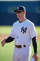 New York Yankees coach David Adams before an Instructional League game against the Baltimore Orioles on September 23, 2017 at the Yankees Minor League Complex in Tampa, Florida.  (Mike Janes/Four Seam Images)