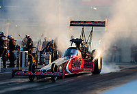 Oct 31, 2020; Las Vegas, Nevada, USA; NHRA top fuel driver Steve Torrence during qualifying for the NHRA Finals at The Strip at Las Vegas Motor Speedway. Mandatory Credit: Mark J. Rebilas-USA TODAY Sports