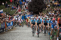 The Belgians up Libby Hill<br /> <br /> Elite Men Road Race<br /> UCI Road World Championships Richmond 2015 / USA