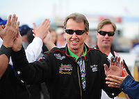 Feb. 19, 2012; Chandler, AZ, USA; NHRA funny car driver Bob Bode during the Arizona Nationals at Firebird International Raceway. Mandatory Credit: Mark J. Rebilas-